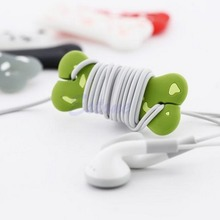 Hottest 1PC Cute Cartoon Dog Bone Cord Cable Wrap Manage Headphone Earphone Winder Cable Organizer Protector Holder