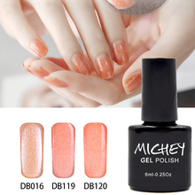 China Manufacturer Hot Sale New Brand MICHEY DIY Magic Gel Polish Orange Glitter UV Gel Nail Glue Need Primer Gel Top Coat