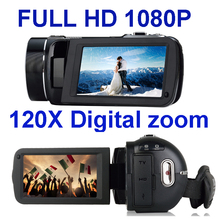 "Freeshipping HDV High Definition Camcorder video camera with 3.0"" touch  screen 10X optical zoom 120X digital zoom Winait HDV-Z8"