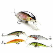 8cm/6.9g New Minnow Fishing Lure Realistic Fish Bait Unique Body Texture Fishing Tackle Wobbler Pesca 5 Color Options HML12B(China)