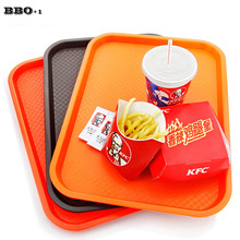 New 1pcs Fast Food Tray Plastic Lunch Trays Restaurant Cafe Bar Coffee Drink Snack Plate Rectangle Commercial Products Tray(China)
