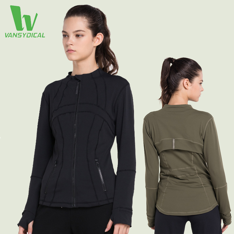 VANSYDICAL Running Jacket Yoga For Women Fitness Quick Dry Zipper Clothes Outdoor Sports Jacket Gym Fitness Jacket Yoga Clothing<br><br>Aliexpress