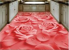 Buy HD warm wallpaper 3d flooring Rose flower wallpapers living room 3d floor tiles photo wallpaper self adhesive wallpaper for $29.57 in AliExpress store