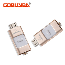 gobuyba USB Flash Drive 32GB 64GB For iPhone 7 7 Plus 6 5 5S Lightning to Metal Pen Drive U Disk for iOS10 memory stick 128GB