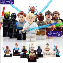40PCS PG8028 Star Wars figures Luke Savage Princess Leia Jedi Master Mace Windu Rebel Combat Building Compatible With