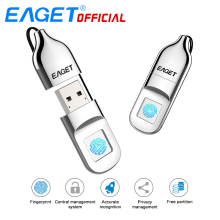 EAGET USB Flash Drive 64GB Pen Drive Fingerprint Encryption Pendrive 32GB USB Flash Disk Memory Stick Storage For Laptop PC(China)