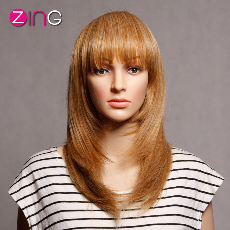 Long Women Synthetic Wigs High Quality Perruque Synthetic Women Straight Fashion Idol Hair Long Blonde Wig Pelucas Pelo Natural<br><br>Aliexpress