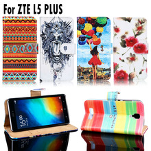 PU Leather Phone Covers Cases For ZTE BLADE L5 ZTE BLADE L5 Plus Housing Bags Card Slot Wallet Flip Shell For ZTE BLADE L5 Case