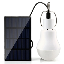 New Solar Outdoor Light 15W 130LM Solar Lamp Portable Bulb Solar Energy Lamp Led Lighting Solar Panel Camp Tent Fishing Light(China)