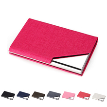 Waterproof Business ID Credit Card Holder Wallet Pocket Case PU Stainless steel Covers(China)