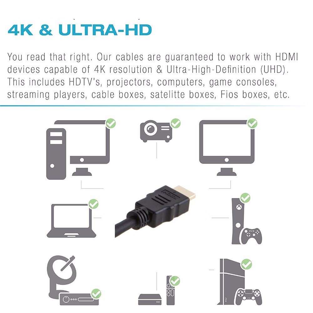 High speed hdmi cable 1m 1.5m 2m 3m 5m 10m 2.0v Gold Plated Plug Male-Male HDMI 2.0 1.4 Version 1080p 3D for HDTV XBOX PS3