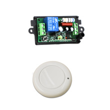 New AC220V 110V 1CH Wireless Remote Control Light Switch Radio Receiver and Wall Round Transmitter 315/433mhz