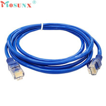 Factory Price MOSUNX Hot Selling 0.7M Blue Ethernet Internet LAN CAT5e Network Cable for Computer Modem Router Drop Shipping
