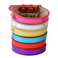 6Colors Big Sale Pu Leather Dog Collars For Small Dogs Adjustable Buckle Pet Puppy Dog Cat Collar Size XS S M(China)