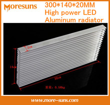 Fast Free shipping 300*140*20MM high power LED aluminum radiator grille type cooling equipment aluminum strip