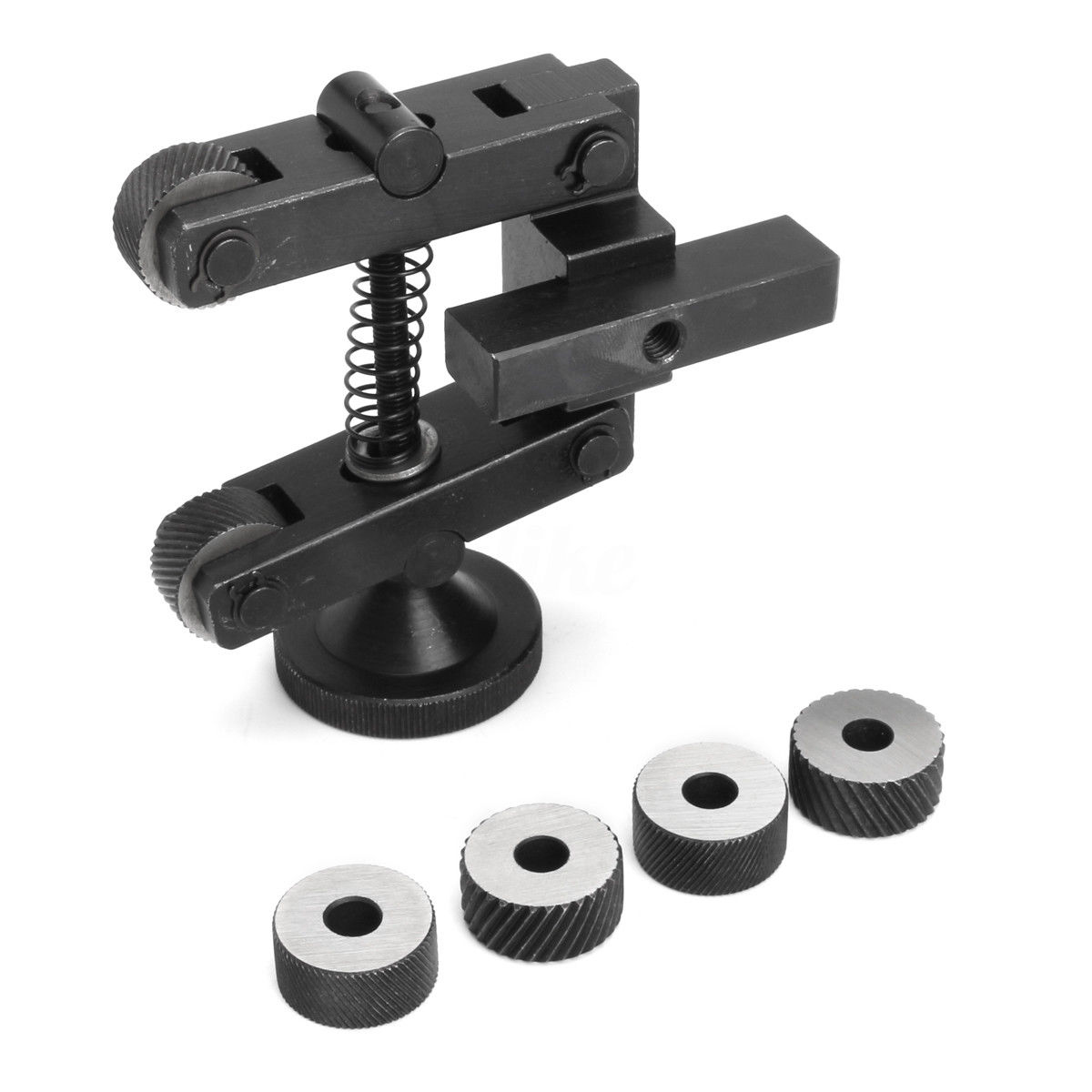 Mayitr Carbon Steel Knurling Tool Holder Linear Knurl Tools Adjustable Shank + 6pcs Wheel 20mm For Mini Lathe Spindle Bearings<br>