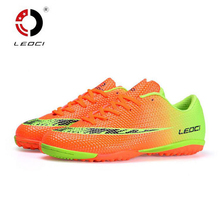 Leoci Professional Men Training Soccer Shoes TF Turf Indoor Football Boots Boys Soccer Shoes Zapatos Botas De Futbol