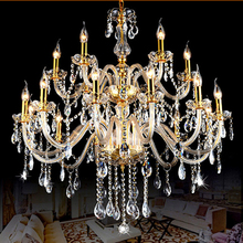 Modern Luxury Gold LED Crystal Chandeliers Light fixtures for dining/living room,3-18 arm candle shape large crystal Chandeliers