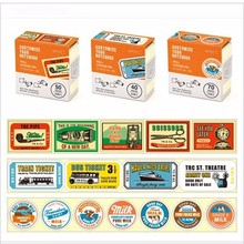Japanese Kawaii Washi Tape Creative retro boxed stickers travelers notebook diary decorative stickers diy 10 optional(China)