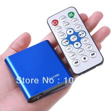 JEDX 1080P Mini HDD Media Player MKV/H.264/RMVB Full HD With USB SD Card Reader Blue Free Car adapter AV Cable