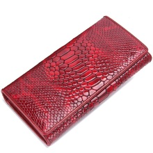 2017 Brand Ladies Designer Portfolio Women Wallet Lady Alligator  Genuine Leather Purse Paint Surface Multifunction Money Bags