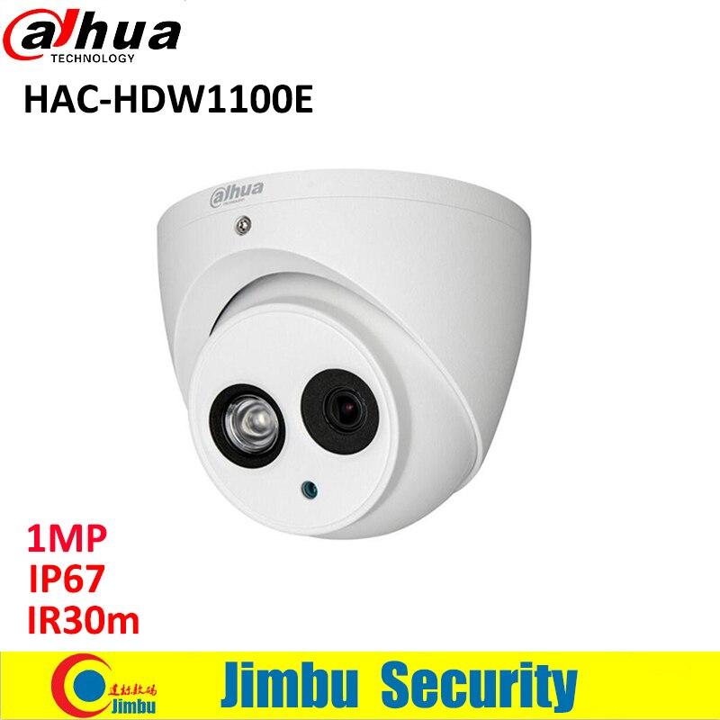 DAHUA HDCVI DOME Camera 1MP HAC-HDW1100E CMOS 720P IR 20M IP67 dahua cctv security camera system <br>