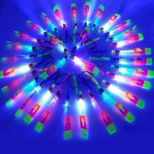 5/10 Pcs Hot Selling LED Light Arrow Rocket Helicopter Rotating Flying Toys Party Fun Kids Outdoor Flashing Toy Fly Arrow 2F0016(China)