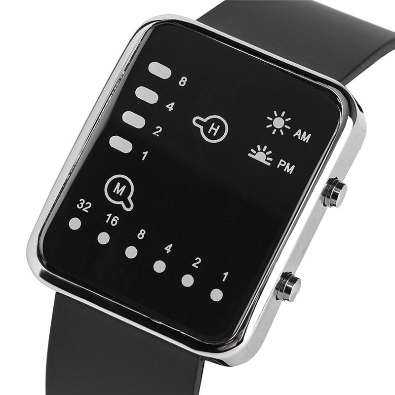 Cool LED Binary Watch Blue Backlight Fashion Men Women Geek Digital Wristwatch Soft Black Silicone Band Sport Watches Army Clock (3)