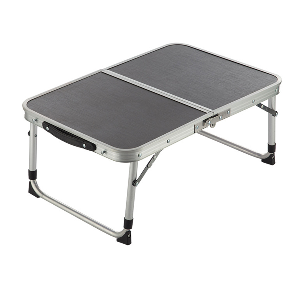 Portable Aluminum Alloy Two Folded Table Adjustable Light Weight Table for Camping Outdoor Picnic 60x40x25-42cm TB Sale<br>