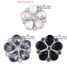 New Designs Bright Shine Glass Snaps Button Jewelry, 3pcs Leaves Designs Snaps Fit Ginger Snaps Tops Jewelry JSSB18143