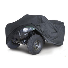Black Universal M/XL 190T Waterproof Quad ATV Cover Vehicle Scooter Motorbike Cover