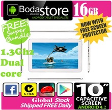 "10.2"" inch 16GB Boda GOOGLE ANDROID Jelly Bean 4.4 TABLET PC CAPACITIVE SCREEN E READER PAD TAB Bundle 8G TF CARD(China)"