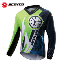 SCOYCO Motorcycle Jacket Motocross Clothing Men Off-road T-shirt Ride Bicycle Long-sleeve Shirt Moto Jersey(China)