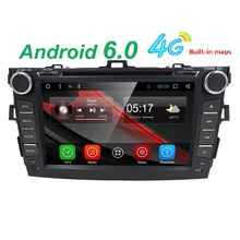 android 6.0 car dvd player for Toyota corolla 2007 2008 2009 2010 2011 in dash 2 din 1024*600 car dvd gps navigation in dash