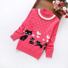 2016 winter new fashion girls' sweaters 6-14 years children cotton sweater L8368
