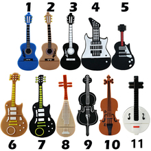 New Pen Drive 8GB 16GB 32GB 64GB USB Flash Drive Cute Cartoon Instruments Guitar violin Model usb 2.0 Memory Flash Stick Gifts