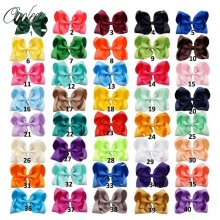 "Buy 20pcs/lot 5"" Solid Grosgrain Ribbon Hair Bow Alligator Clip Girl Handmade Kids Boutique Hair Accessories for $14.63 in AliExpress store"