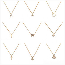 2017 make wish necklace with card Elephant Pendant Short Chain Choker Necklace For Women Jewelry Christmas gift(China)