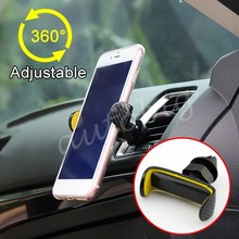 Vehicle Interior Rotatable Mobile Display Stand Air Vent Mount Cradle Phone Holder Adjustable Accessories Parts ABS Molding(China)