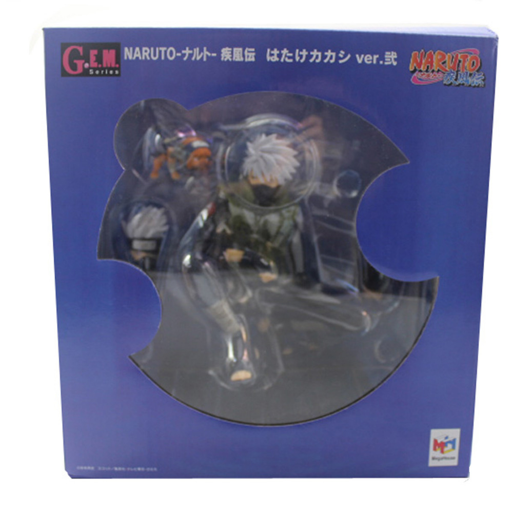 G.E.M. Naruto HATAKE KAKASHI Three Types of Expressions 15cm/6 Figure Free Shipping<br>