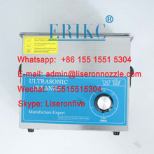 ERIKC diesel injector parts cleaning machine 110V 3L fuel injection ultrasonic cleaner  tool E1024014