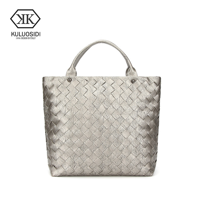 KULUOSIDI Fashion Women Tote Bag Brand Luxury Design Handbag 2017 Top Handle Shoulder Bags For Women Knitting Messenger Bag Soft<br>