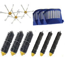 High Quality Bristle & Flexible Beater Brush &6-Armed Brush Aero Vac Filters kit for iRobot Roomba 600 Series 620 630 650 660(China)
