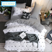 BEST.WENSD Jogo de cama bedding set King size 3/4Pc duvet cover bed linen pillowcase,bedclothes dekbedovertrek housse de couette(China)