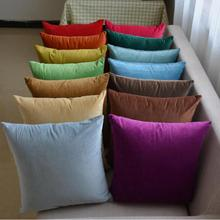 Free Shipping Custom 2017 New Short Soft Plush Solid Color Cushion Living Room Sofa Chair Seat Pillow Wholesale