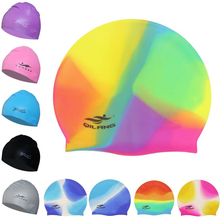 New 18 Colors Women Men Children Kids Waterproof Silicone Swimming Surf Cap Hat Swim Pool Water Bathing Hair Ear Protection Caps