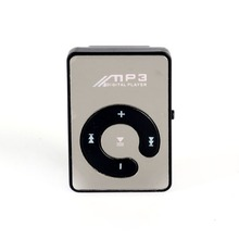Mini Mirror Clip USB Digital Mp3 Music Player Support 8GB SD TF Card Hot Sale