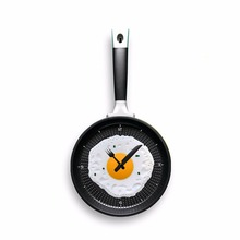 Creative Wall CLock Fry Pan Style Clock Fried Egg Style 4 Colors Available Z01(China)