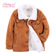 Pettigirl 2017 New Boys Winter Warm Brown Long Sleeves Jacket Fashion Fur Coats For Kids Boy Outerwear Clothes B-DMOC908-941