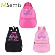 cfe2f568c3 Kids Girls Ballet Bag Students School Backpack Ballet Dance Bags for Girls  Sequins Toe Shoes Embroidered